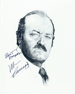 WILLIAM CONRAD - PRINTED ILLUSTRATION SIGNED IN INK