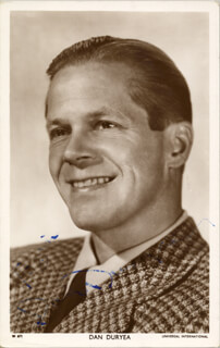DAN DURYEA - PRINTED PHOTOGRAPH SIGNED IN INK