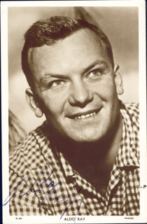 ALDO RAY - AUTOGRAPHED SIGNED PHOTOGRAPH