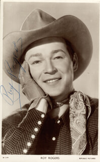 ROY ROGERS - PICTURE POST CARD SIGNED