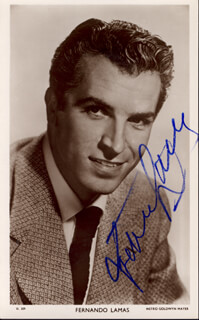 FERNANDO LAMAS - PICTURE POST CARD SIGNED