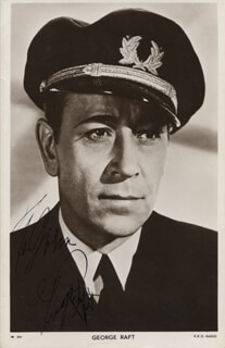 GEORGE RAFT - INSCRIBED PICTURE POSTCARD SIGNED