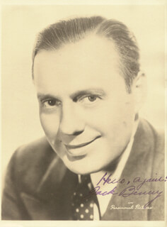 JACK BENNY - AUTOGRAPHED SIGNED PHOTOGRAPH