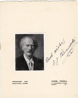 Autographs: IGNACY JAN PADEREWSKI - PROGRAM SIGNED