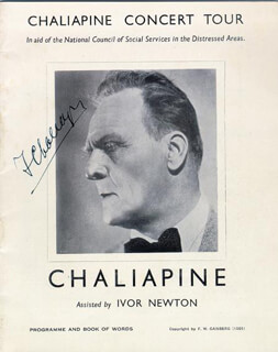 FEODOR IVANOVICH CHALIAPIN - PROGRAM SIGNED
