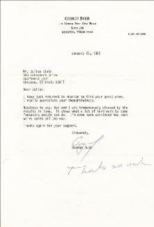 PRESIDENT GEORGE H.W. BUSH - TYPED LETTER SIGNED 01/27/1980