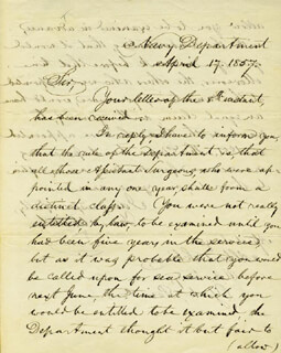 ISAAC TOUCEY - MANUSCRIPT LETTER SIGNED 04/17/1857