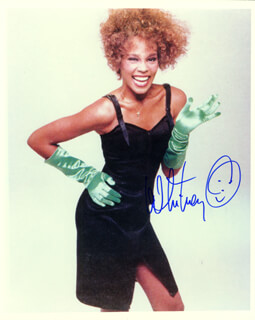 WHITNEY HOUSTON - AUTOGRAPHED SIGNED PHOTOGRAPH