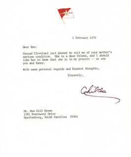 GENERAL WILLIAM C. WESTMORELAND - TYPED LETTER SIGNED 02/02/1970