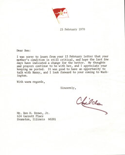 GENERAL WILLIAM C. WESTMORELAND - TYPED LETTER SIGNED 02/25/1970