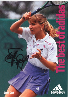 STEFFI GRAF - PICTURE POST CARD SIGNED