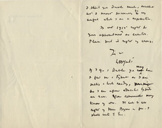 Autographs: WILLIAM BUTLER YEATS - AUTOGRAPH LETTER SIGNED 04/17/1917