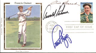 ARNOLD PALMER - FIRST DAY COVER SIGNED CO-SIGNED BY: PAUL AZINGER, SAM SLAMMING SAMMY SNEAD
