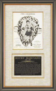 ROCKY MARCIANO - AUTOGRAPHED SIGNED PHOTOGRAPH