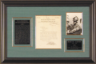 Autographs: MARCUS GARVEY - TYPED LETTER SIGNED 06/11/1935