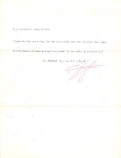 Autographs: ANSEL ADAMS - TYPED LETTER TWICE SIGNED 03/08/1958