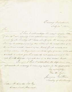 Autographs: JAMES GUTHRIE - MANUSCRIPT LETTER SIGNED 07/14/1854