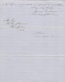 Autographs: JAMES GUTHRIE - MANUSCRIPT LETTER SIGNED 09/24/1856
