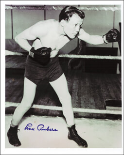 Autographs: LOU AMBERS - PHOTOGRAPH SIGNED