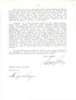 DIANA ROSS - CONTRACT SIGNED 06/01/1984