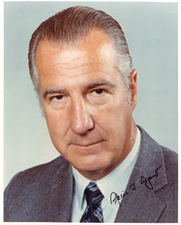 VICE PRESIDENT SPIRO T. AGNEW - AUTOGRAPHED SIGNED PHOTOGRAPH