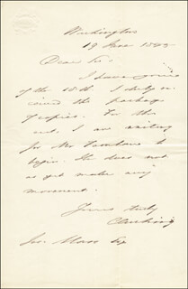 Autographs: CALEB CUSHING - AUTOGRAPH LETTER SIGNED 06/19/1855