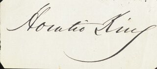 Autographs: HORATIO KING - CLIPPED SIGNATURE