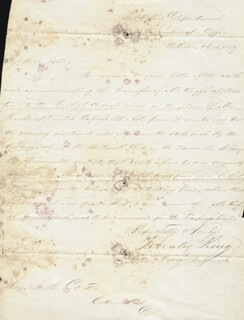 HORATIO KING - MANUSCRIPT LETTER SIGNED 10/16/1857