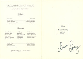 LUCILLE LUCY BALL - PROGRAM SIGNED 1985