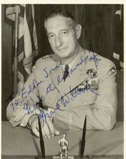 Autographs: GENERAL MARK W. CLARK - INSCRIBED PHOTOGRAPH SIGNED