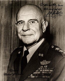 Autographs: BRIGADIER GENERAL JAMES H. JIMMY DOOLITTLE - INSCRIBED PHOTOGRAPH SIGNED