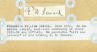 FREDERICK WILLIAM SEWARD - CLIPPED SIGNATURE