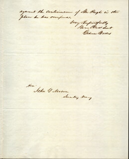 GIDEON WELLES - AUTOGRAPH LETTER SIGNED 08/27/1847  - HFSID 17294