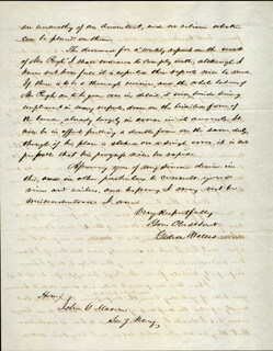 GIDEON WELLES - AUTOGRAPH LETTER SIGNED 08/31/1847  - HFSID 17295