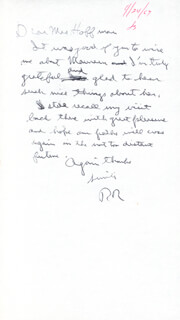 PRESIDENT RONALD REAGAN - AUTOGRAPH LETTER SIGNED 04/24/1967