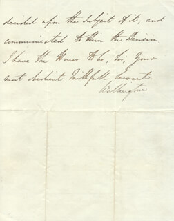 DUKE (ARTHUR WELLESLEY) OF WELLINGTON (GREAT BRITIAN) - AUTOGRAPH LETTER SIGNED 05/05/1829