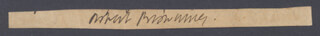 ROBERT BROWNING - CLIPPED SIGNATURE