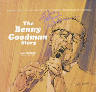 Autographs: BENNY GOODMAN - RECORD ALBUM COVER SIGNED