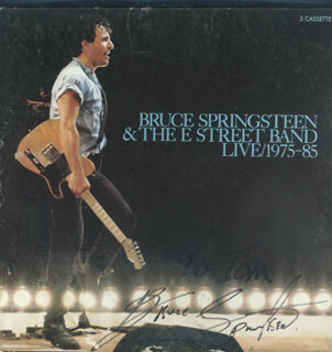 BRUCE THE BOSS SPRINGSTEEN - INSCRIBED CASSETTE SET COVER SIGNED