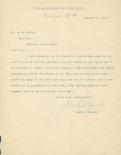LT. GENERAL JOHN M. SCHOFIELD - TYPED LETTER SIGNED 01/06/1892