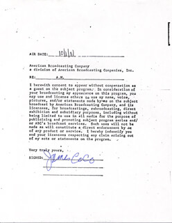 JAMES JIMMY COCO - CONTRACT SIGNED 10/01/1981