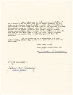 ROSEMARY CLOONEY - CONTRACT SIGNED 01/23/1953