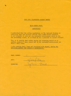 SYLVIA FINE - DOCUMENT SIGNED 04/30/1972