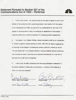 CATHY RIGBY - DOCUMENT SIGNED 12/17/1990
