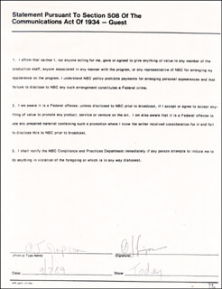 O. J. SIMPSON - DOCUMENT SIGNED 09/07/1989