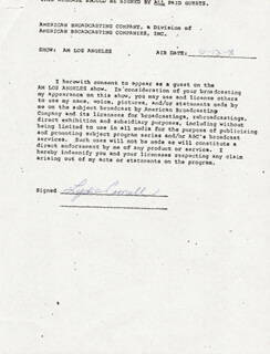 LYDIA CORNELL - ANNOTATED DOCUMENT SIGNED 06/12/1981