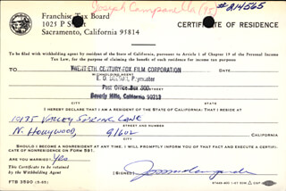 JOSEPH CAMPANELLA - DOCUMENT SIGNED