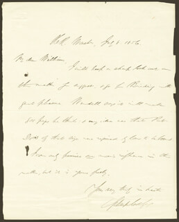 VICE PRESIDENT SCHUYLER COLFAX - AUTOGRAPH LETTER SIGNED 07/08/1856