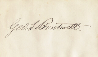 GEORGE S. BOUTWELL - AUTOGRAPH