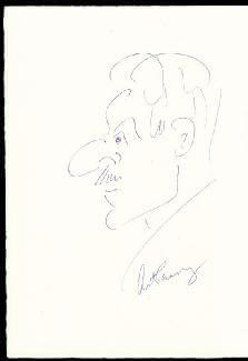 ART CARNEY - SELF-CARICATURE SIGNED